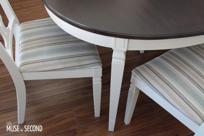 Tables et chaises style champêtre